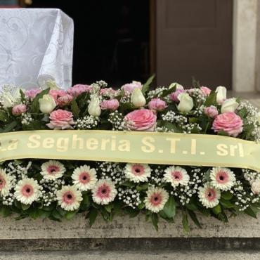 Cuscino funebre fiori di stagione