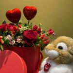rose san valentino cuori e peluche trudi